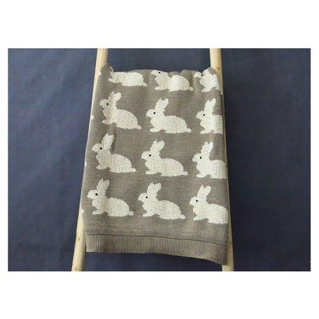 Cotton Knit Rabbit Blanket