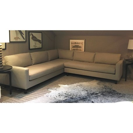Hunter Sectional w/ Bench Seat in Ridley Pewter by MGBW
