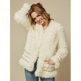 Goldie Ariana Ivory Shearling Jacket