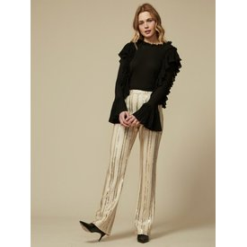 Goldie Cream and Gold Stripe Pants