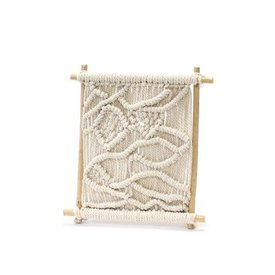 """Soul of the Party Framed Macrame Weaving 8""""x10"""""""
