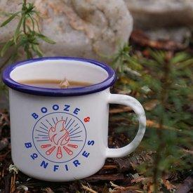 Enamel Co. Booze & Bonfires Enamel Mug