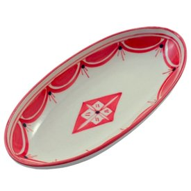 Nejma Small Serving Platter : Red Floral