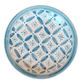 Moroccan Blue Fez Side Plate
