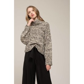 Moon River Slub Yarn Turtleneck Sweater