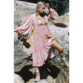 Spell and the Gypsy Collective Poinciana Gown in Cotton Candy