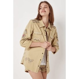 Spell and the Gypsy Collective Wanderer Jacket Taupe