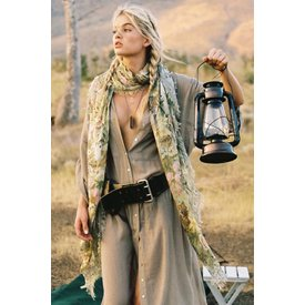 Spell and the Gypsy Collective Jungle Travel Scarf Khaki