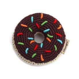 Cheengoo Donut Crocheted Rattle / Choc