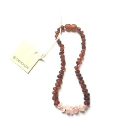 CanyonLeaf Raw Amber + Raw Rose Quartz: 13""