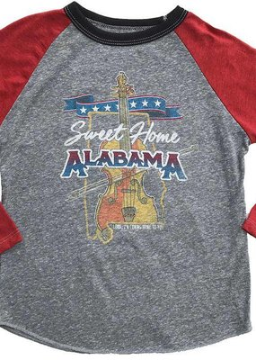 Rowdy Sprout Sweet Home Alabama Raglan Tee