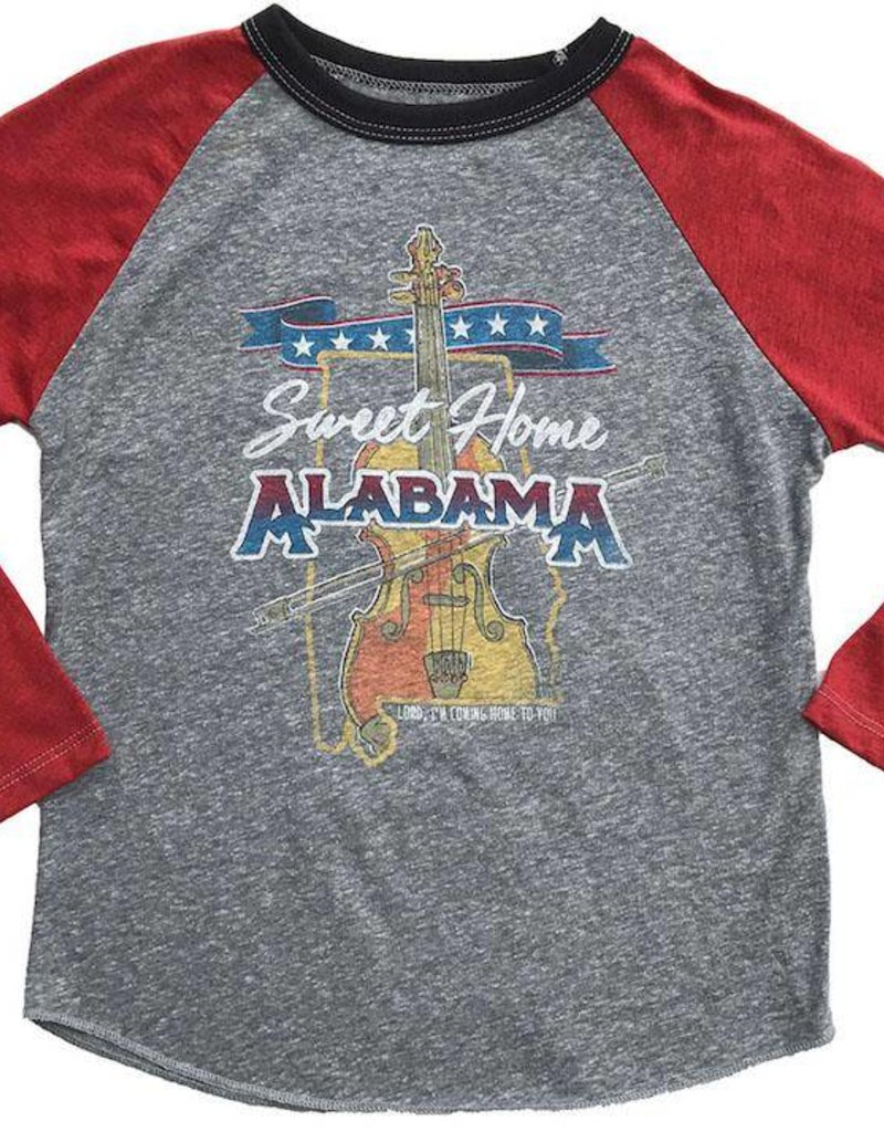 Rowdy Sprout Sweet Home Alabama Raglan Tee