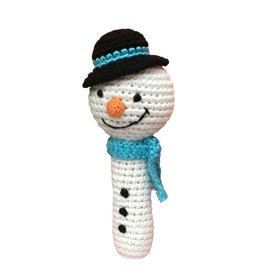 Cheengoo Snowman Crocheted Rattle