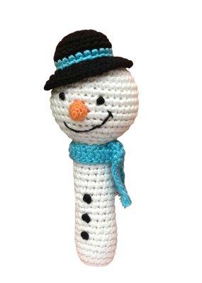 Cheengoo Snowman Crocheted Rattle