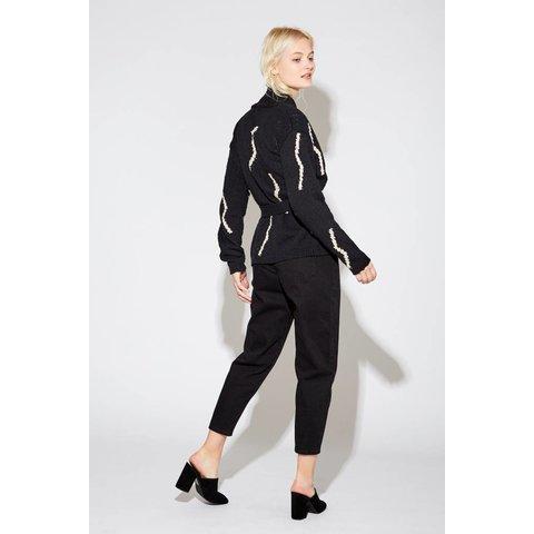 Odette Cardigan with Belt Black Multi