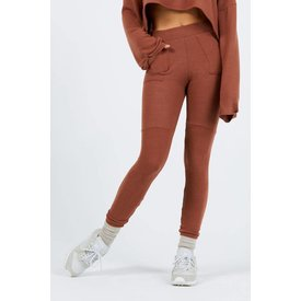 Joah Brown Lux Pocket Legging Rust Hacci