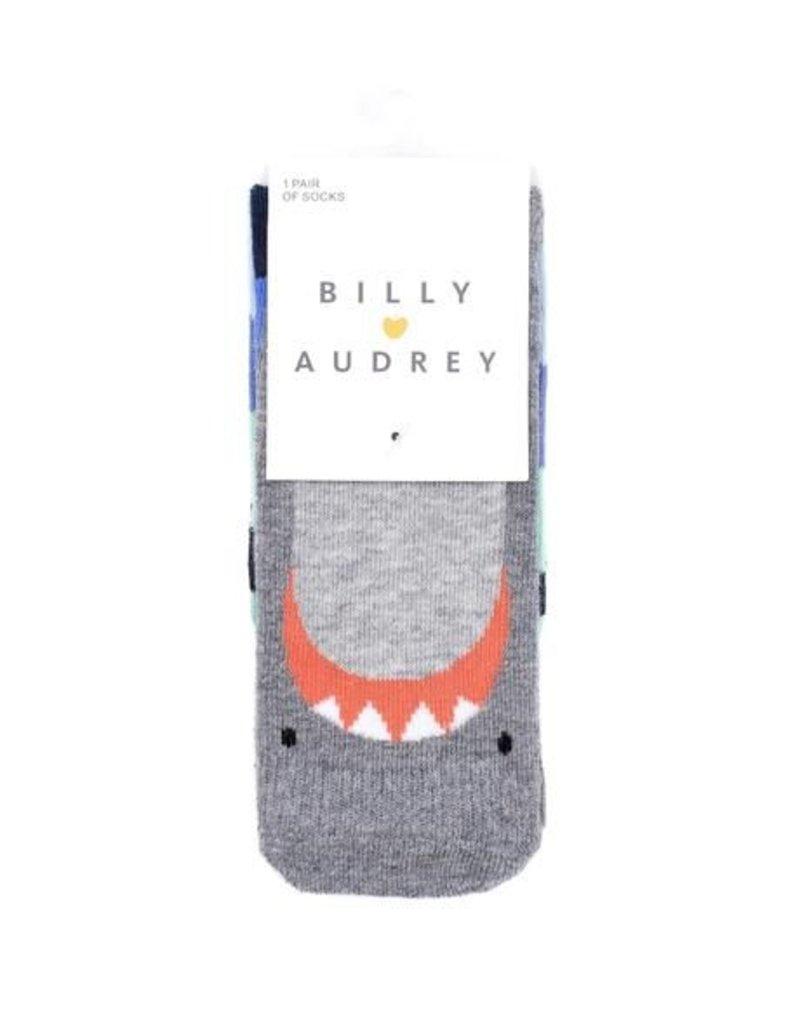 Billy Loves Audrey Shark Socks