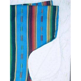 Selvedge Dry Goods Turquoise Serape Blanket