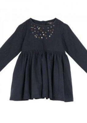 Velveteen Blackberry Camille Dress