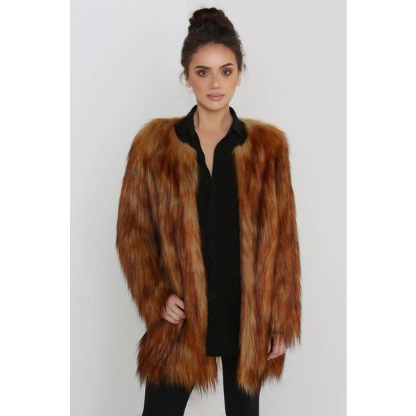 Unreal Fur Wanderlust Coat Natural Ginger