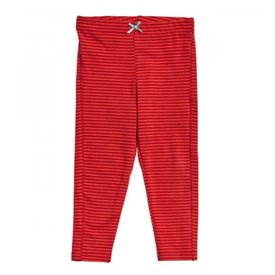 Pink Chicken Stripe leggings / red