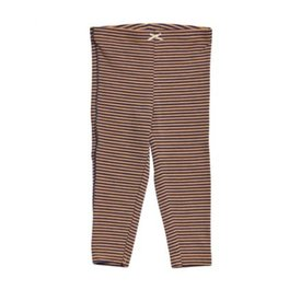 Pink Chicken Stripe Leggings/ tan & blue