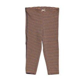 Pink Chicken Stripe Leggings/ tan & blue