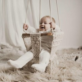 Finn + Emma Boho Macrame Baby Swing