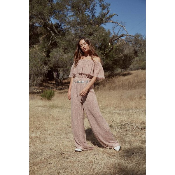 Sage the Label Fiona Jumpsuit Dusty Rose