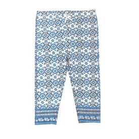 Pink Chicken Border Print Capri Legging