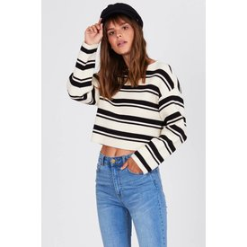 Amuse Society Bahia Sweater Black and White