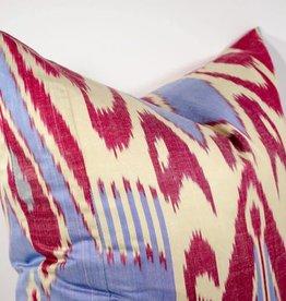 Red & Cream Ikat Pillow