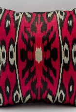 "Red Ikat Pillow 14""x14"""