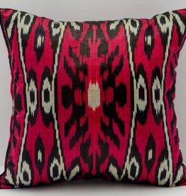 """Red Ikat Pillow 14""""x14"""""""