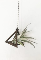 Savvie Studio Mini Air Plant Hanger Triangle Walnut