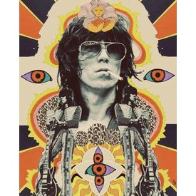 Electric Sister Scorpio Keith Richards Print