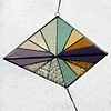Large Triangle Stained Glass Summer
