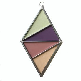 Ornament Diamond Stained Glass Blush
