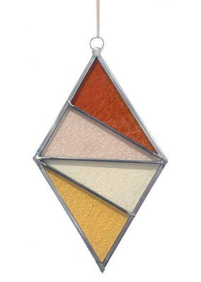 Ornament Diamond Stained Glass Buckwheat Field