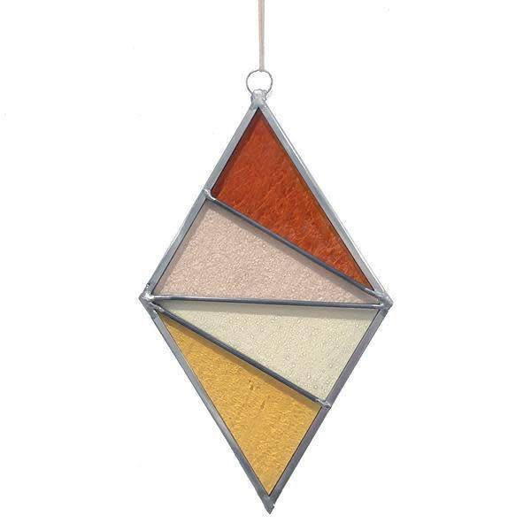 Ornament Diamond Stained Glass Buckwheat Field