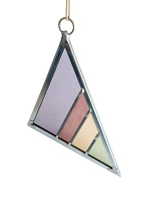 Small Stained Glass Triangle Violet