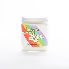 Ginger June Candle Co. Love Is Love