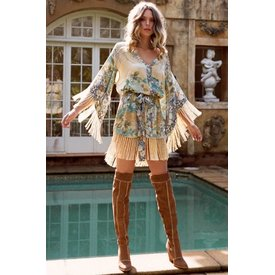 Spell and the Gypsy Collective Willow Tasselled Mini Dress - Meadow