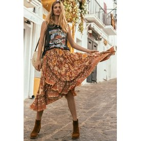 Spell and the Gypsy Collective Amethyst Frill Skirt - Amber