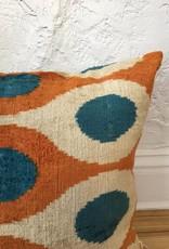 Cobalt & Rust Mod Pillow