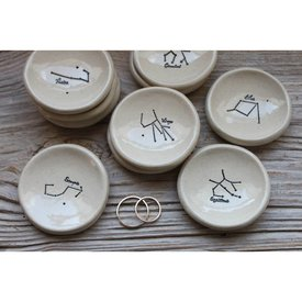 Zodiac Constellation Ring Dish