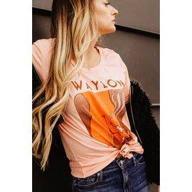 Midnight Rider Waylon Jennings in Free Shirt