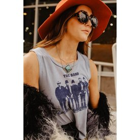 Midnight Rider The Band Portrait Tank in Denim