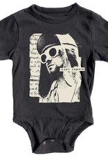 Rowdy Sprout Kurt Cobain distressed onesie