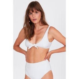 Amuse Society Quinn Bralette Swim Top White